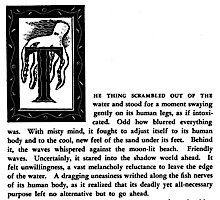 The Sea Thing by A.E. van Vogt, initial decoration by Charles McNutt (1948)